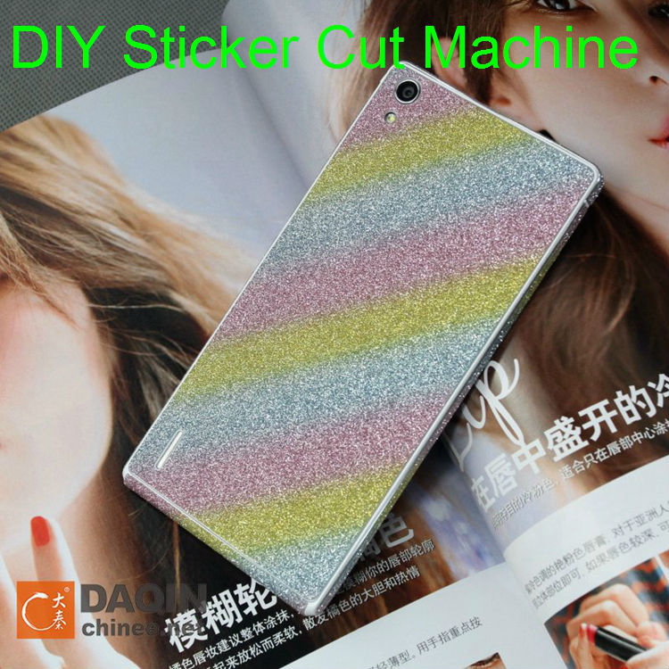 Daqin sticker cutting and printing machine for mobile cover beauty business