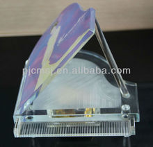 Exquisite Glass Piano Crystal Music Box
