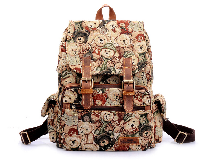 2016 Hot Sell Fashional Teddy Bear Bag Backpack School Backpack