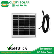 Solar Lighting System Parts 3W Small Poly Solar Module