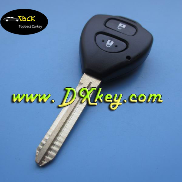 Shock price Original 2 buttons auto remote key with 315Mhz D67 chip for toyota Carola car key car key remote control toyota