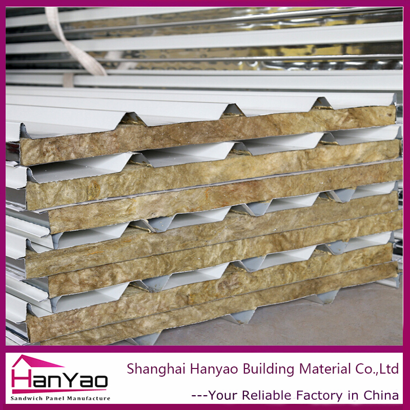 Rockwool PU Mineral Wool Glass Wool Fireproof Roof Wall Sandwich Panels on Sale