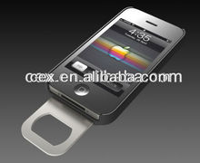 For iPhone 4 4s New Arrival Beer Bottle Opener Slide In/Out Phone Shell PC Hard Case