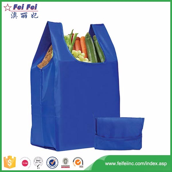 China factory cheap portable tote nylon shopping bag