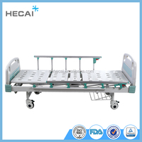 LS-MA184 manual hospital bed with ABS head and foot board