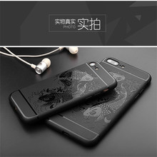 High quality slap-up 3D lucky fish cartoon luxury cell phone case for Iphone 5G,5S,5SE,6,6+,7,7+