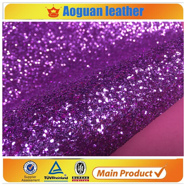 2016 hot sell UK 3D big glitter multy color in synthetic leather with chunky glitter fabric