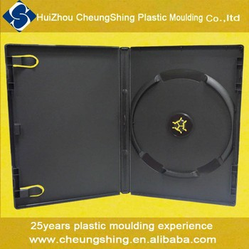 China factory wholesale 2017 new PP plastic 14mm dvd case/ dvd box