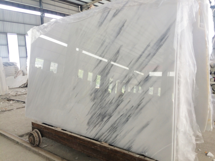 International Nature Wall Stone Product White Grey Vein Marble Slabs