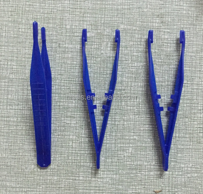 Colorful Disposable Surgical plastic tweezers medical forceps, medical use plastic forceps