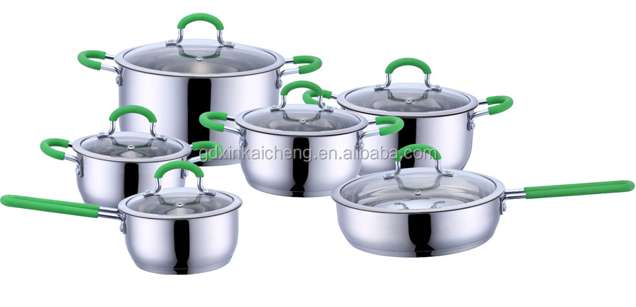 Hot slae !! 12-Piece Stainless Steel Cookware,as seen on TV