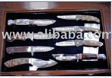 Tableware Plain Wooden Boxes With 8 Model For Hold Knife