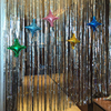 Foil Balloon With Silver Metallic Door Window Curtain For Party Accessory