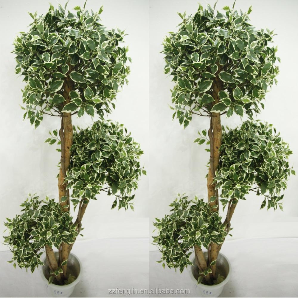 Alta calidad bola topiary rbol de ficus artificial de - Plantas artificiales para decoracion ...