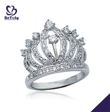 Customized design queen 925 silver crown ring