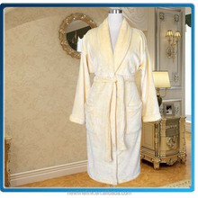 100% microfiber flannel dressing gown promotional bathrobe manufacturer