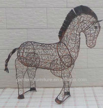 Alambre caballo animal decoración <span class=keywords><strong>de</strong></span> <span class=keywords><strong>hierro</strong></span> forjado <span class=keywords><strong>de</strong></span> metal estatuilla