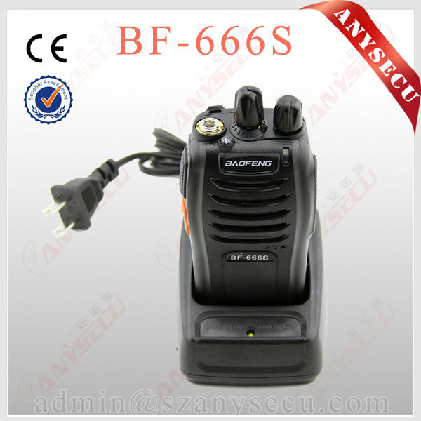 CE passed flashlight BF-666S 7 watts 2 way radios