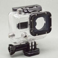 Gopros Camera Accessories White Transparent Waterproof Case For Gopro Hero3