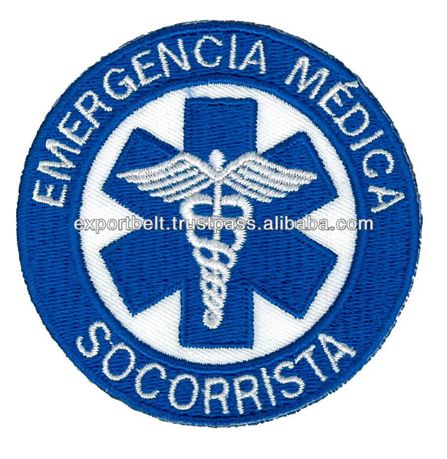 machine embroidery medical patch badge, garment accessory
