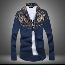 Wholesale pattern printing shirt top quality men dress shirt hot new products for 2016