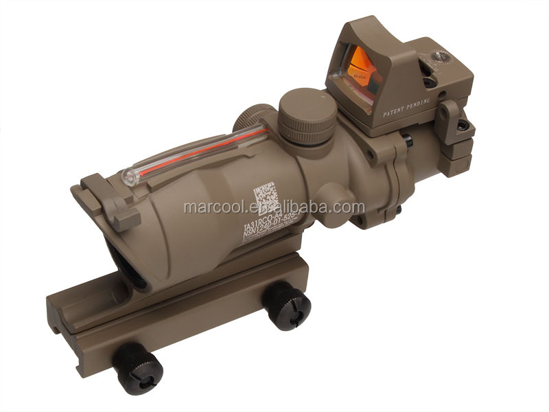 Sand color ACOG GL 4x32 Scope with False Red Fiber Optics & Light-operated