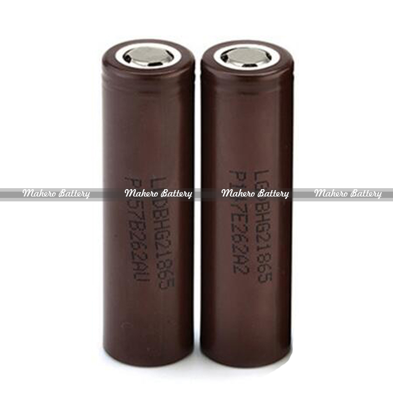 Hot selling E-zigaretten electric cigarette battery LG choco 18650 HG2 3.7v 3000mah li-ion battery LG HG2 battery for vaping