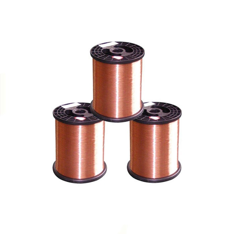manufacturer high quality stocked 6mm enameled <strong>copper</strong> clad aluminum wire for winding
