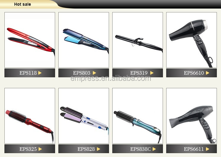 Ionic and vibration hair flat iron professional hair straightener EPS801