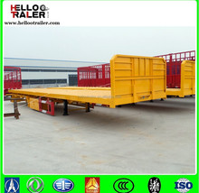 cheap container carreir front sidewall flatbed semi trailer
