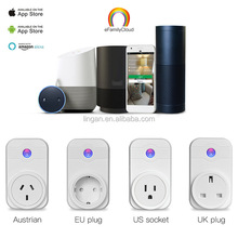 OEM Home Automation Phone Remote Control Wifi Smart Plug Socket working with Amazon Alexa echo and Google home