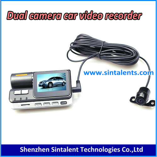 Full HD Car Dvr Dual Camera 2 Dual Lens Dash Cam I1000 For Vehicle Video Recorder Car dvr, r300 dash cam gps XY-x3000