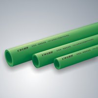 Green ppr water pipe and fittings with 5 color high quality corrosion resistant