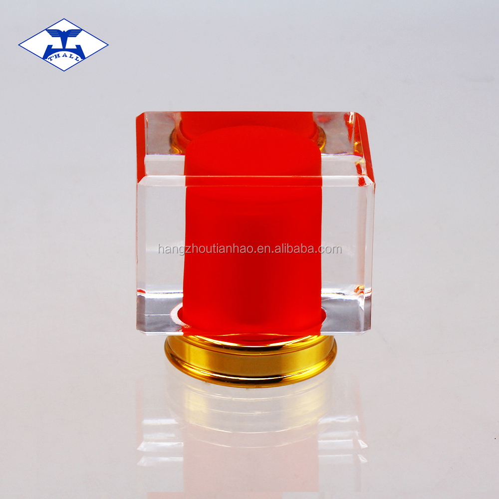 Acrylic transparent costomized color combined perfume bottle cap