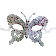 new arrival carnival decoration luxury white butterfly mask
