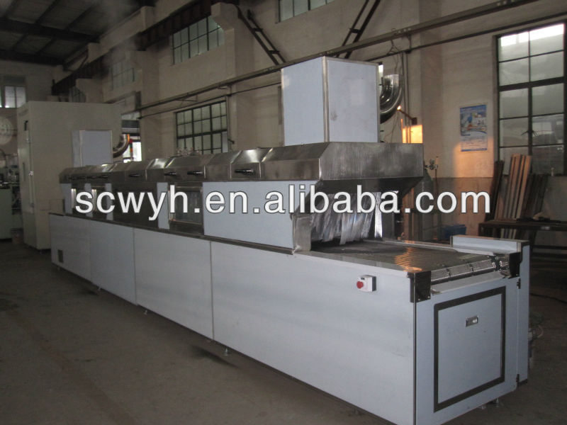 Automatic continuous passing type parts cleaning equipment
