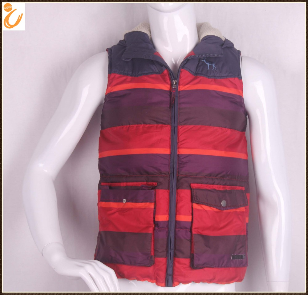 Lightweight Down Winter Padded 100%poly Sleeveless jackets men Vest