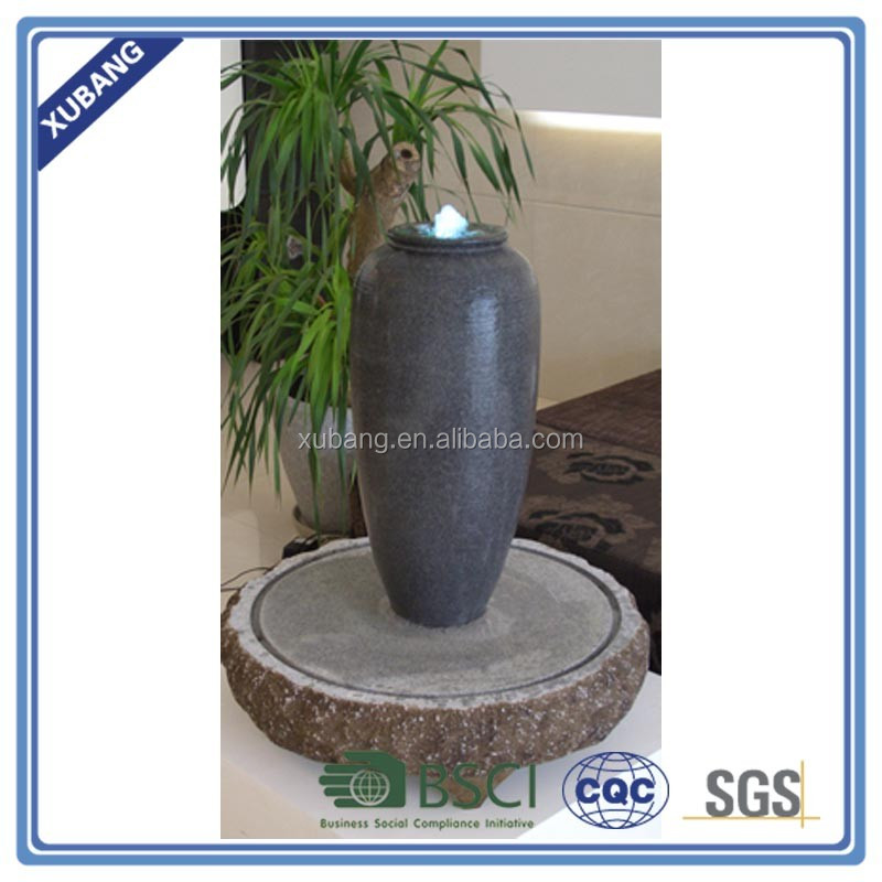 balcony water fountain for outdoor decoration large jar water fountain
