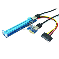 best sell product pcie adapter riser pci-e x1 x16 converter card