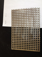 Decorative stainless steel 304 perforated metal sheet with color