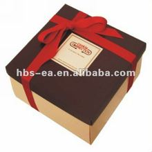 2012 Delecate new design handmade paper gift box with ribbon