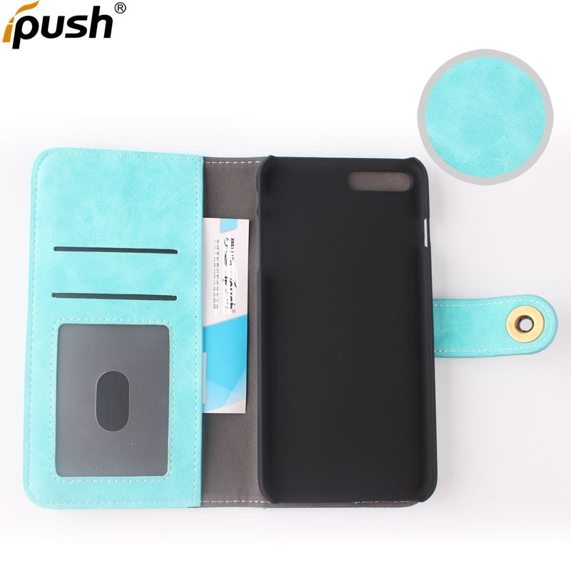 2017 Premium Custom PU Leather Flip Cover Phone Case for Apple iPhone 7 Plus