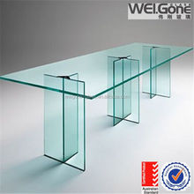 hot sale morden tempered glass table legs
