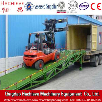 Hydraulic loading platform for container