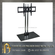China supplier oem customized vertical wrought iron tv stand, metal enclosure stand made in china