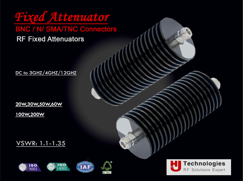 Attenuator F Connector Coaxial fixed attenuator