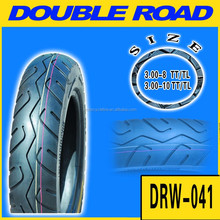 China factory hot sale tubeless motorcycle tire 300-8 wholesale