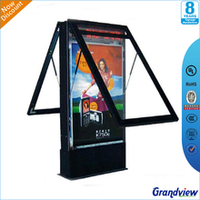 outdoor standing use scrolling advertising display light box