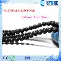 6mm 8mm 10mm Natural Gemstone Black Volcanic Lava Stone Beads