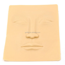 3D face practice skin with lips & nose & eyes & eyebrows, professional combination PMU practice face skin